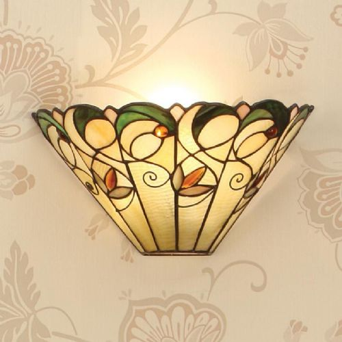 Jamelia Wall Light (Art Nouveau, Wall Lamp) T095W (Tiffany style)